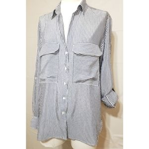 Zara Striped Blouse Shirt